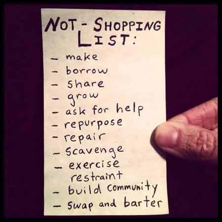 not-shopping-list